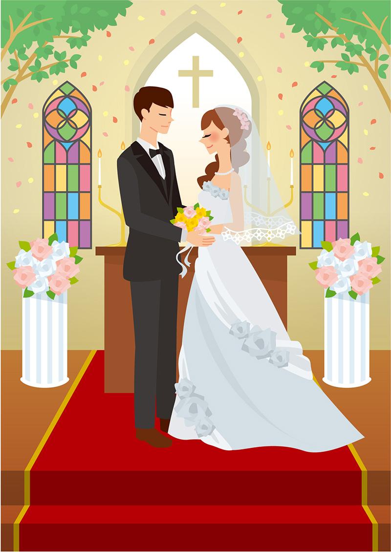 結婚式を挙げる